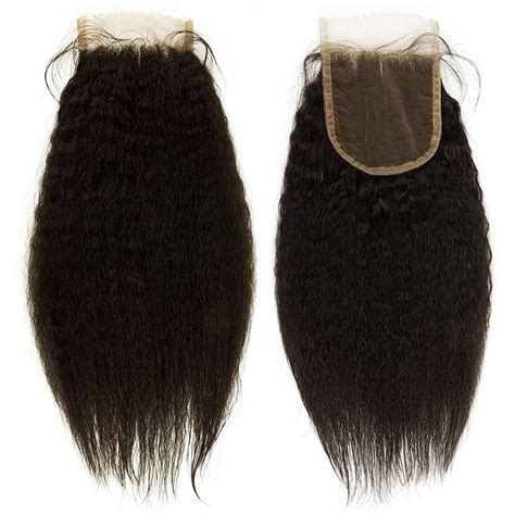 human hair lace closure yaki black remy human hair lace closure hairpieces wigs