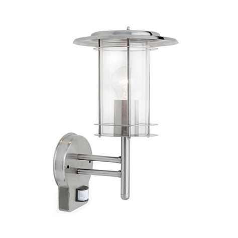 endon 4479782 york pir stainless steel wall light with sensor