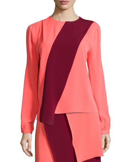 Rn Dress Tania Fit L designs two tone sleeve blouse neiman