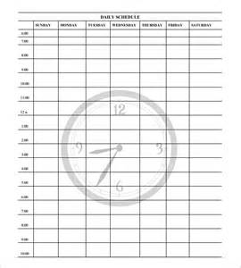 free daily schedule template daily schedule template 29 free word excel pdf