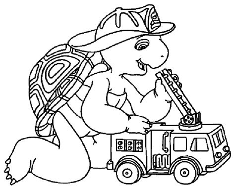franklin the turtle coloring page