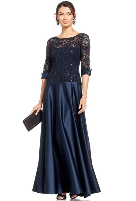js collections sequin lace illusion gown mother of the