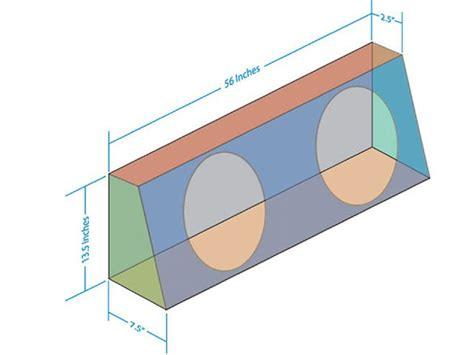 basic subwoofer box construction standard cab