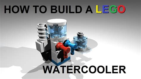 how to build a lego water cooler custom moc instructions youtube