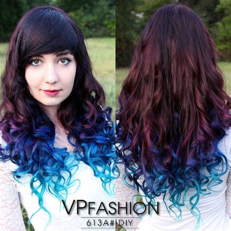 dyed hairstyles for brown hair dip dyed hair with extensions archives vpfashion vpfashion