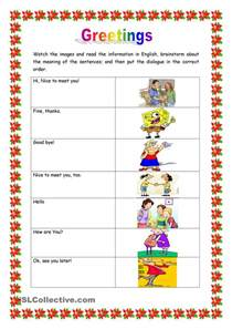 esl lesson worksheets greetings education worksheets and class