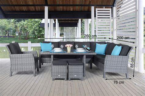 gartenmoebel lounge dining rattanmoebel gartentisch set