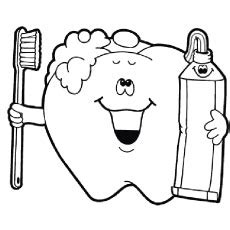 teeth coloring pages preschool free tooth coloring pages clipart best