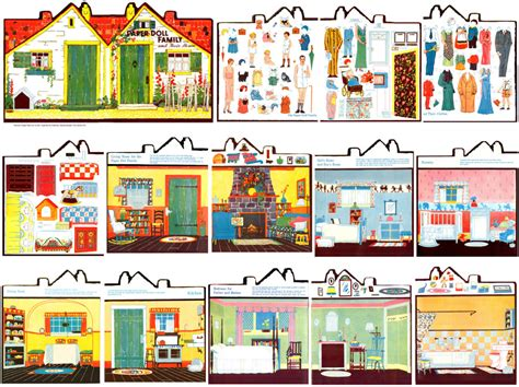 paper doll house template dolls house printables new calendar template site