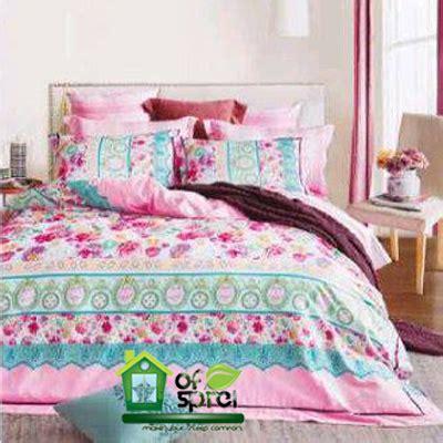 Tencel Bunga Pink sprei satin jepang motif bunga houseofspreiku