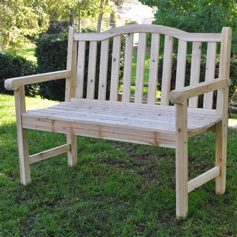 unfinished outdoor bench shine co 4212n outdoor patio belfort garden bench in