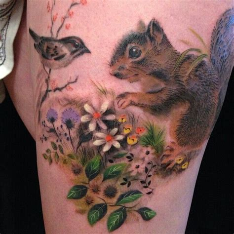 squirrel tattoos 17 beste idee 235 n eekhoorn tatoeage op