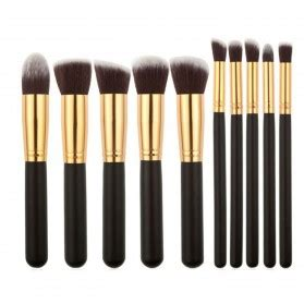Kuas Makeup Set kuas make up bambu 4 set brown white jakartanotebook