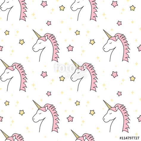 unicorn pattern background quot cute cartoon unicorn seamless vector pattern background