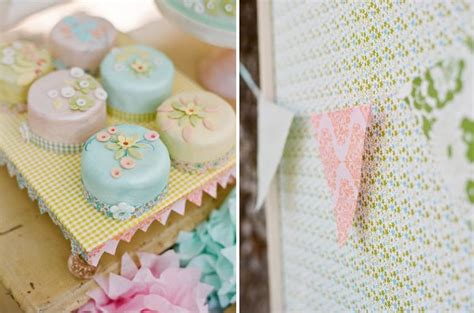 shabby chic picnic cake ideas and designs