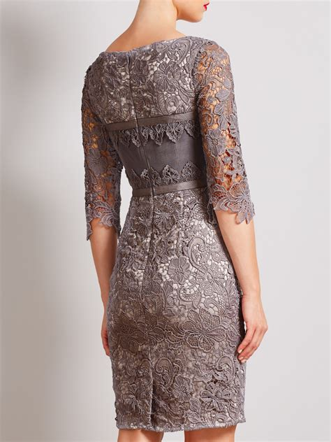Dress Lace Grey lyst bruce by bruce oldfield lace dress in gray