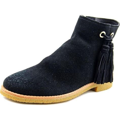 kate spade bellamy suede black ankle boot boots