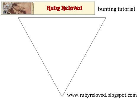 bunting template to print ruby reloved how to make bunting