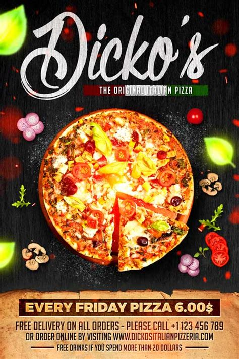 pizza flyer template free pizza menu flyer template xtremeflyers