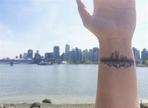 city line tattoo vancouver canada 32 city skyline tattoos that prove