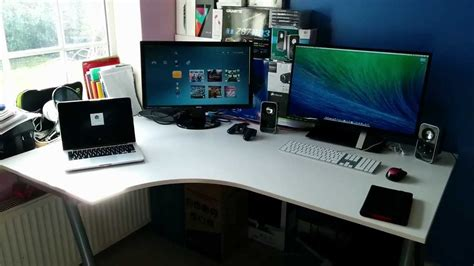 ultimate desk setup ultimate tech setup march 2014 desk room tour youtube