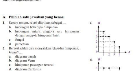 soal matematika smp kelas  bab fungsi semester  warung
