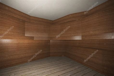 interior  wooden veneer wall  plank wood floor