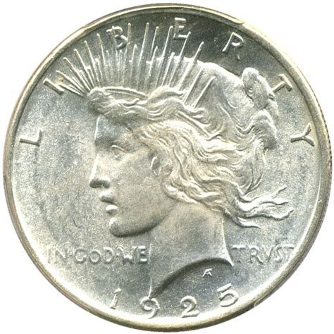 1925 silver dollar value 1925 peace silver dollar 1 pcgs ms64 buy sell