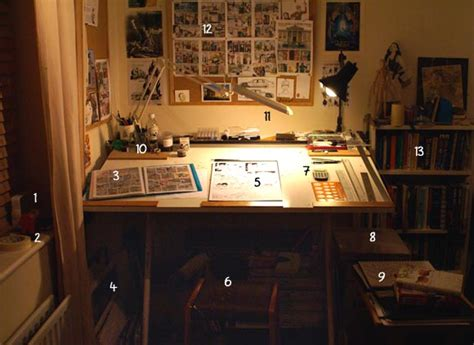 Artist Desk by The Adventures Of Julius Chancer The 3 Workspace And Materials