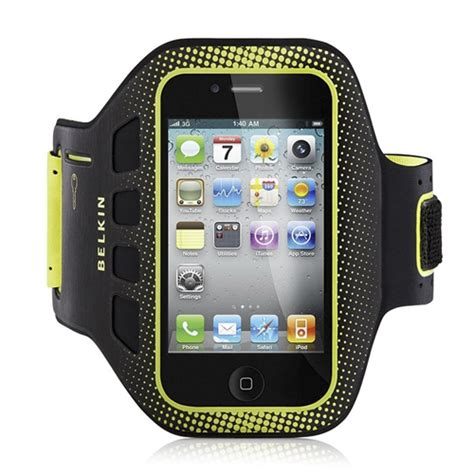 Sports Armband 46cm For Iphone 4 4s genuine brand new belkin easefit sport armband for iphone 4 4s bkf8z894cw ebay