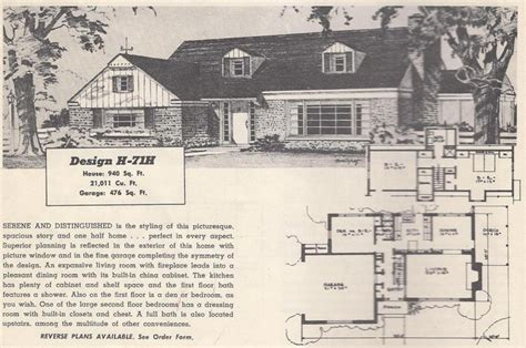 1950s ranch house floor plans vintage house plans mid century homes 1950s homes 1950