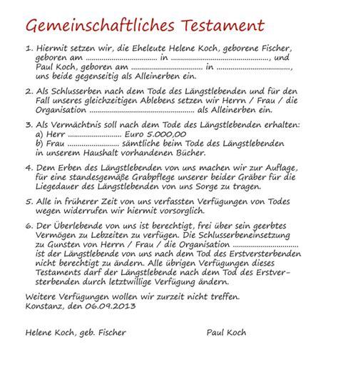 Lebenslauf Bewerbung Kirche Testament Muster Vorlage Schweiz Info Ch 16 Muster Testamente Im Sparpaket Beispiel Fr Ein
