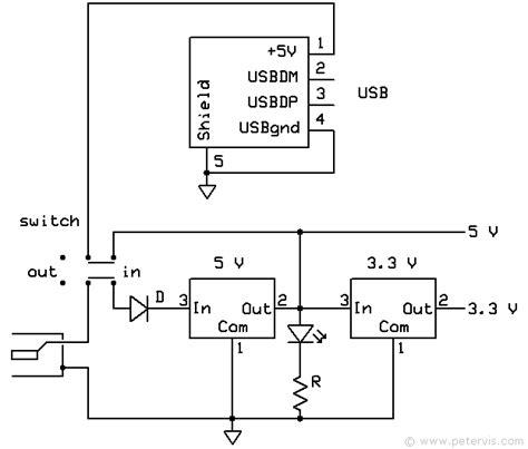 breadboard circuit schematic breadboard power supply usb