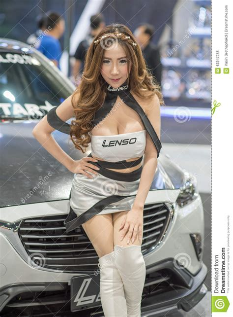 Unidentified Model With Lenso Car Wheel At Thailand