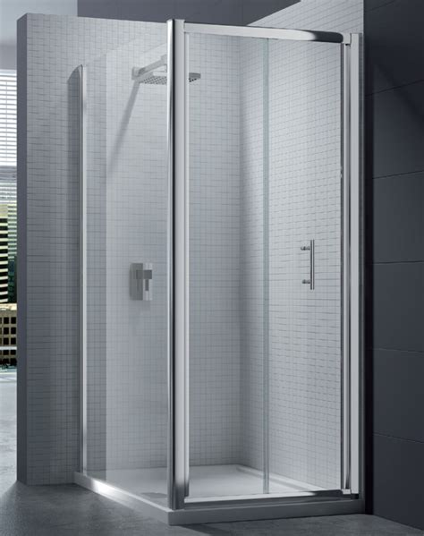 bifold shower door merlyn 6 series 4mm clear glass bi fold shower door 700mm