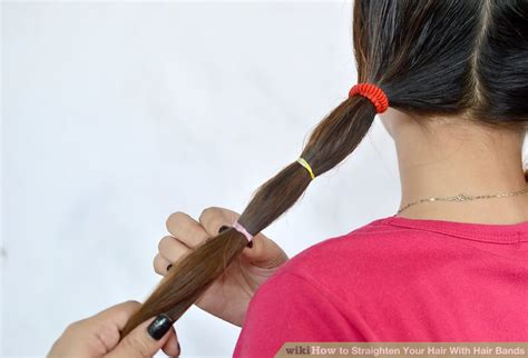 how to straitin hair with rubbervbands hiw to straighten your hair with rubber band how to