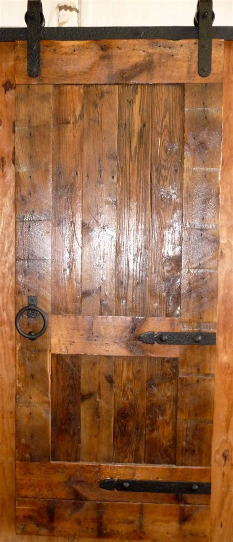 Reclaimed Barn Door Sliding Barn Door Antique Reclaimed Wood Adjustable Length Cust