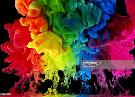 colored ink rainbow colored ink paint in water stock photo getty images