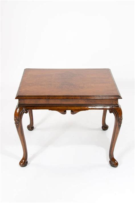 antique walnut coffee table on cabriole legs at 1stdibs