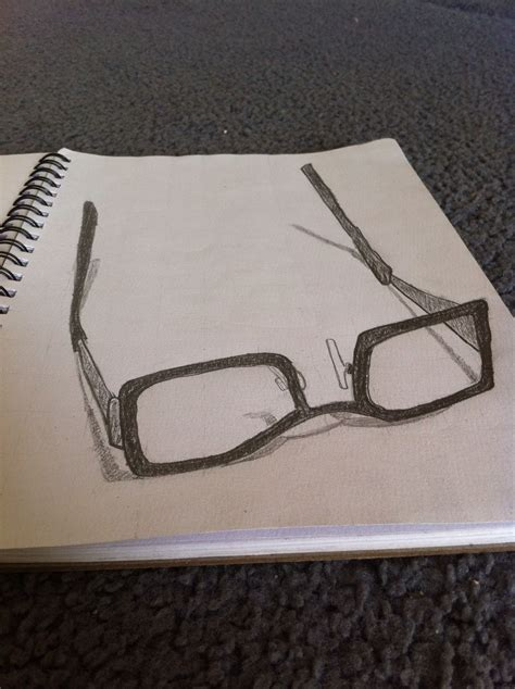 Sketches 3d by 3d Sketch Of My Glasses Sketches 3d Drawings 3d