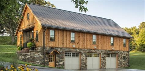 house with barn barn home features open living space with a 3 car garage below