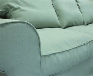 ikea ektorp sofa custom slipcover in sky linen