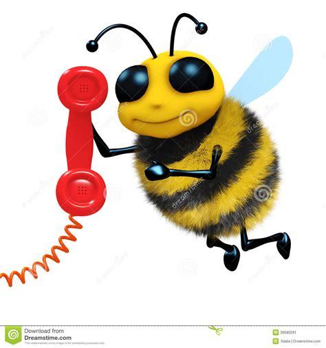 telephone bee stock illustration illustration  funny