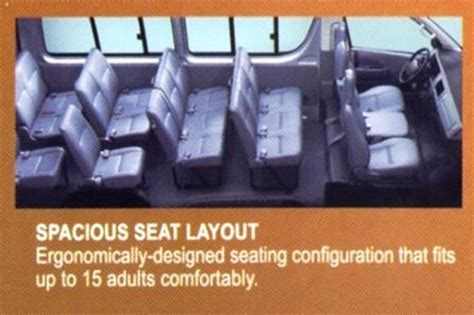 Toyota Hiace Seating Capacity Toyota Commuter Seating Capacity