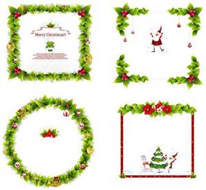 christmas frame ornaments black and white vector