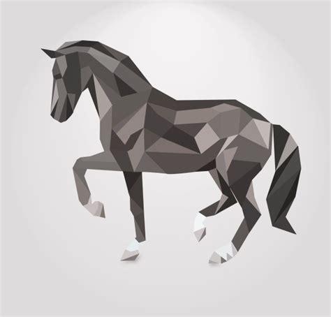 creative patterns using geometric shapes 3d geometric shapes horse creative vector free vector in