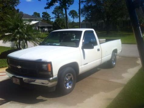 how cars run 1998 chevrolet g series 1500 spare parts catalogs sell used 1998 chevy silverado c1500 white great work truck toolbox hitch runs great in vero