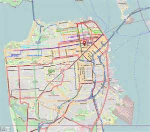 F Line Map San Francisco by Map Showing Routes Of The Former A B C D E F And H S