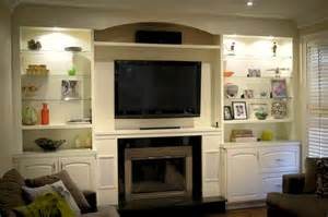 Fireplace Units Custom Wall Units With Fireplace Icicle White Built In