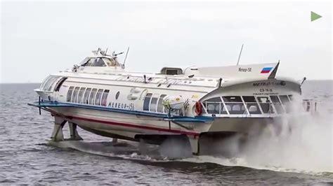 hydrofoil boat russia impressive first hydrofoil since soviet era in